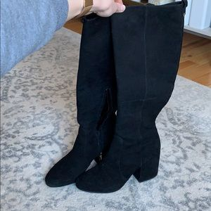 Sam Edelman 8.5 black under the knee boot